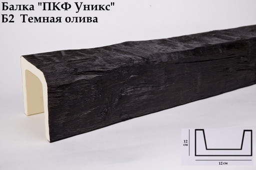 Балка декоративная Уникс Б2 Темная Олива