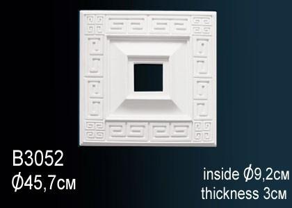 Лепнина Perfect B3052 Розетка потолочная