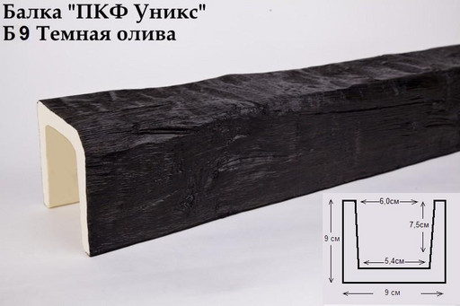Балка декоративная Уникс Б9 Темная Олива