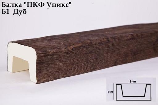 Балка декоративная Уникс Б1 Дуб