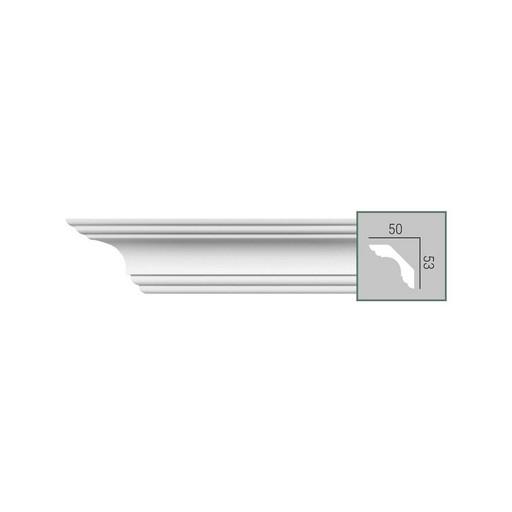 P 210 Fabello Decor карниз с гладким профилем