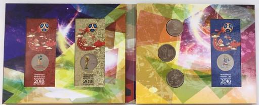 6 монет + банкнота 2018 набор ЧМ по футболу в России В АЛЬБОМЕ