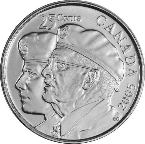 25 центов Канада 2005 «Год ветеранов»