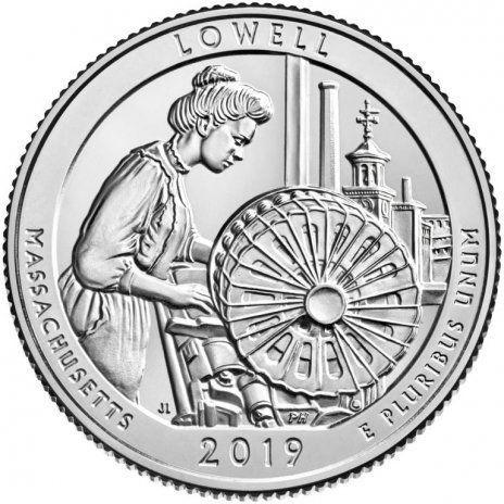25 центов США 2019 46-й парк Массачусетс