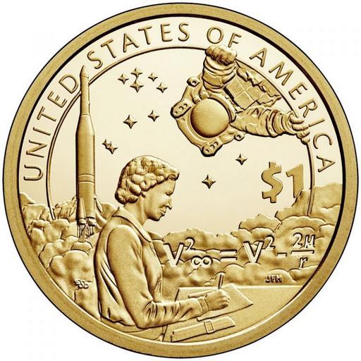 1 доллар США Сакагавея 2019 «Инженер Мэри Голда Росс»