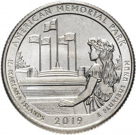 25 центов США 2019 47-й парк Северные Марианские острова