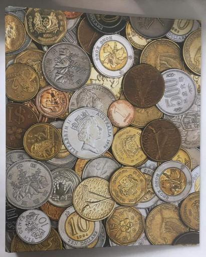 Альбом для иностранных монет без листов с рисунком (корешок 40 мм)