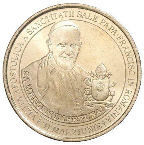 50 бани 2019 Румыния «Визит Папы Римского в Румынию»