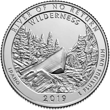 25 центов США 2019 50-й парк Айдахо