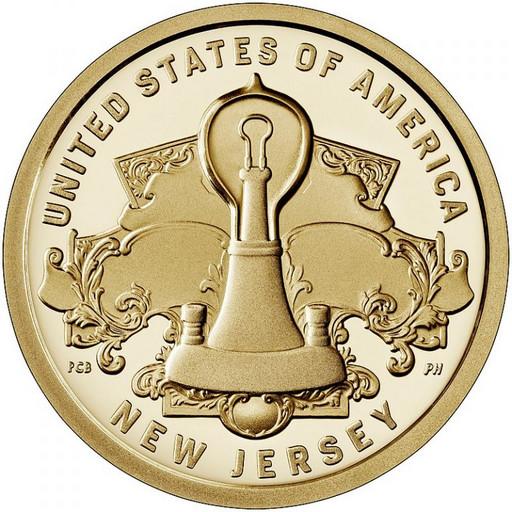1 доллар США 2019 Лампа накаливания Эдисона