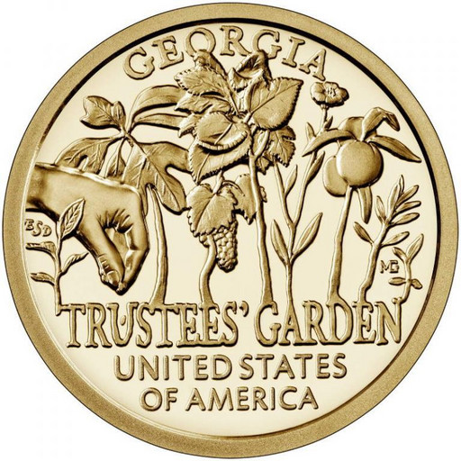 1 доллар США 2019 Сад попечителей
