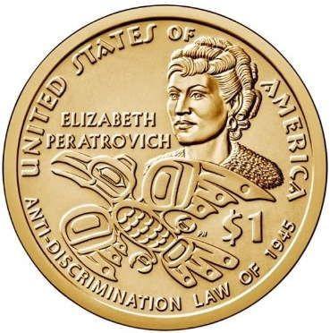 1 доллар США Сакагавея 2020 «Элизабет Ператрович»