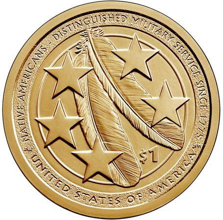 1 доллар США Сакагавея 2021 «Индейцы на военной службе»