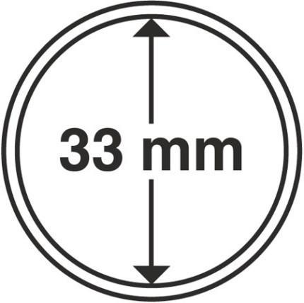 Капсула для монеты диаметром 33 мм