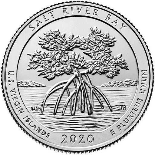25 центов США 2020 53-й парк Американские Виргинские острова