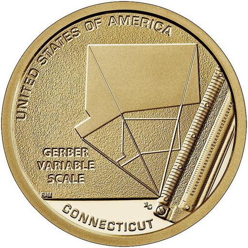 1 доллар США 2020 Шкала Гербера