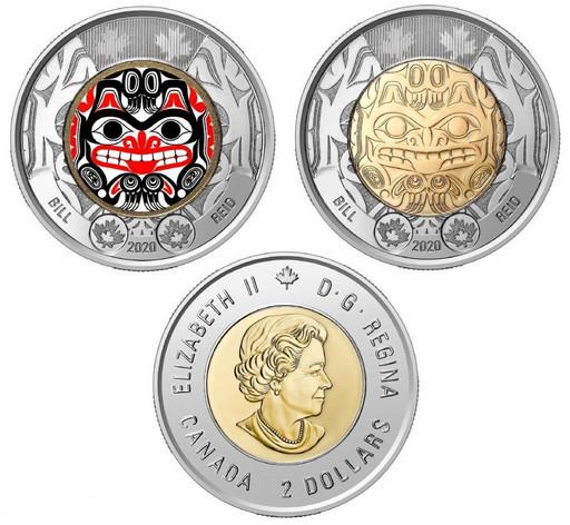 2 доллара Канада 2020 «100 лет со дня рождения Билла Рида»
