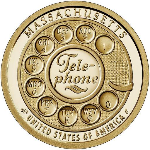 1 доллар США 2020 Один из первых дисковых телефонов