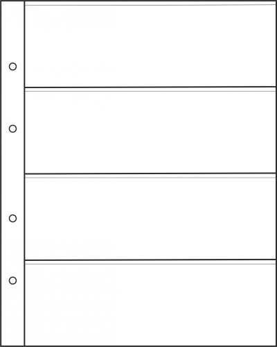 Лист для бон на 4 ячейки формата Optima