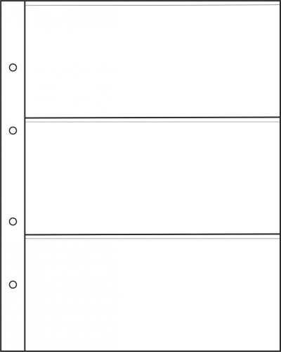 Лист для бон на 3 ячейки формата Optima
