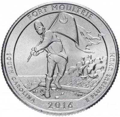 25 центов США 2016 35-й парк Южная Каролина