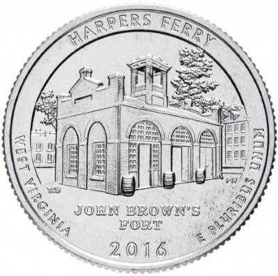 25 центов США 2016 33-й парк Западная Виргиния