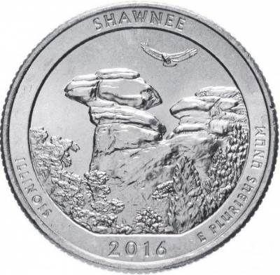 25 центов США 2016 31-й парк Иллинойс