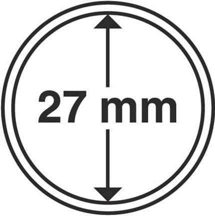 Капсула для монеты диаметром 27 мм