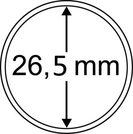 Капсула для монеты диаметром 26,5 мм