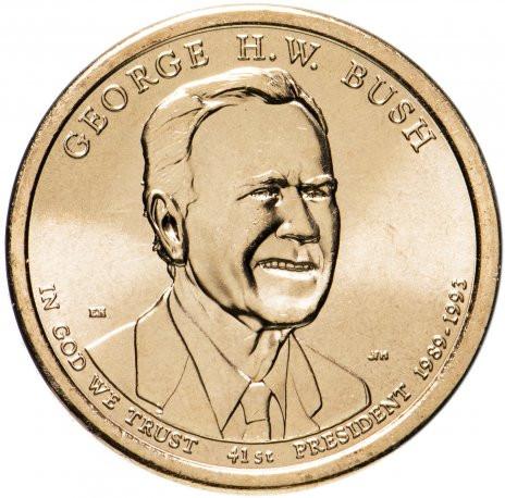 1 доллар США 2020 «41-й Президент Джордж Буш старший»