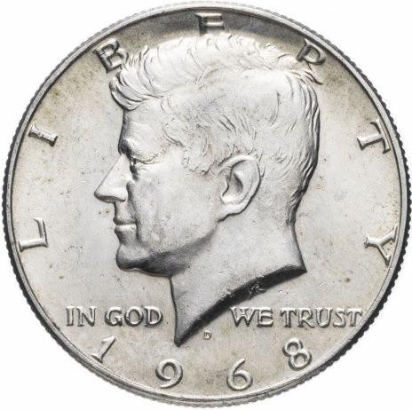 50 центов США 1968 Кеннеди