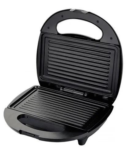 Сендвичница ROYAL BERG RB-850 1000W, бутербродница, гриль электрическая, серая, чёрная
