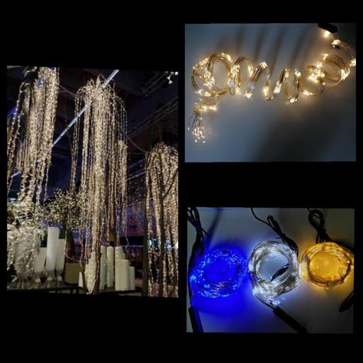 Новогодняя гирлянда-led 'пучок/конский хвост' 20шт*3м синяя 600LED ламп