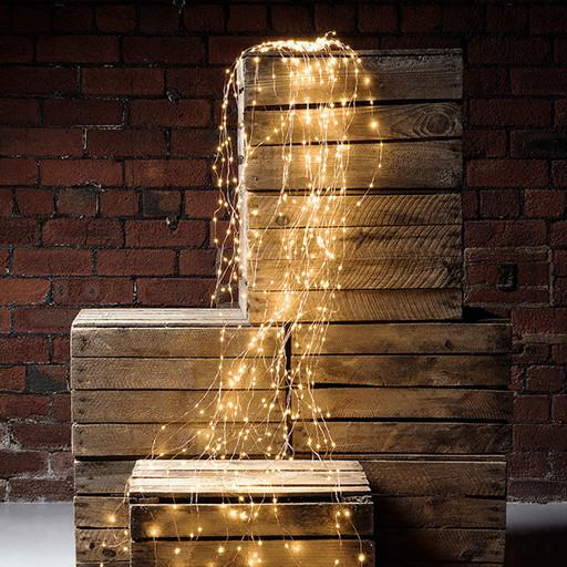 Гирлянда конский хвост, 600 LED лампочек, статическое свечение (25 нитей, 2.3м)
