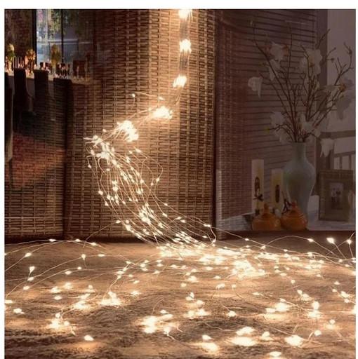 Гирлянда Конский хвост 600 LED, 25 нитей, Золотая (Желтая), проволока, от сети, 2,3м.