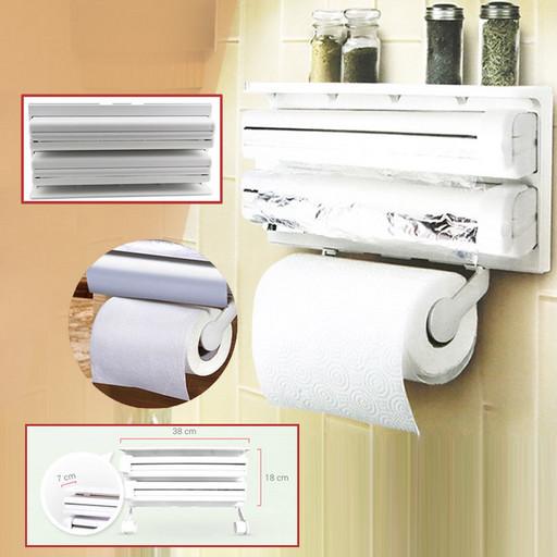 Кухонный диспенсер для пленки, фольги и полотенец Kitchen Roll Triple Paper Dispenser