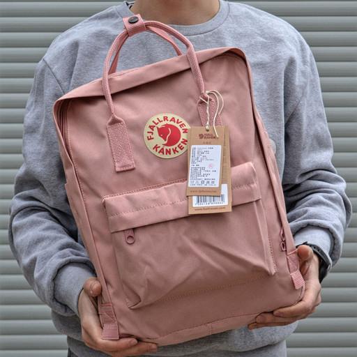 Рюкзак пудровый розовый женский мужской школьный 16 литров от бренда Fjallraven Kanken Classic Канкен Классик