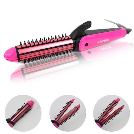 Плойка утюжок для волос 3 в 1 Nova NHC-8890