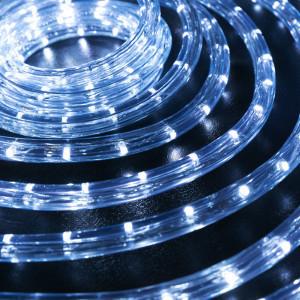 Шнур Дюралайт Светодиодный. Готовый Комплект 10 м Led с контроллером - Холодный-Белый
