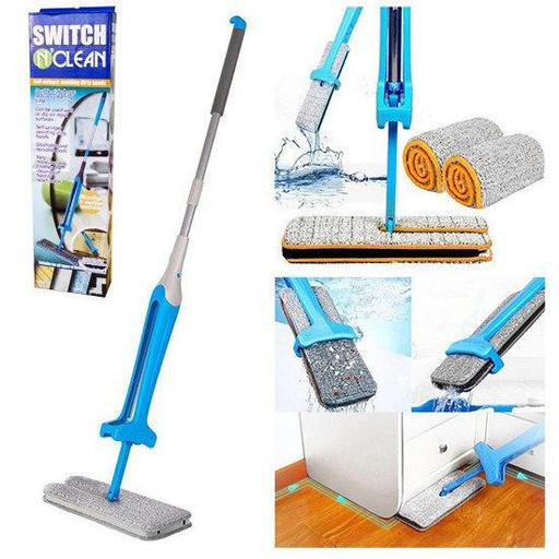 Самоотжимающаяся швабра лентяйка - Switch N Clean