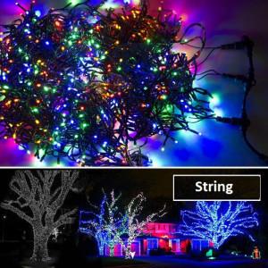 Угирлянда delux string 100 Led-10 м, Светодиодная Цветная
