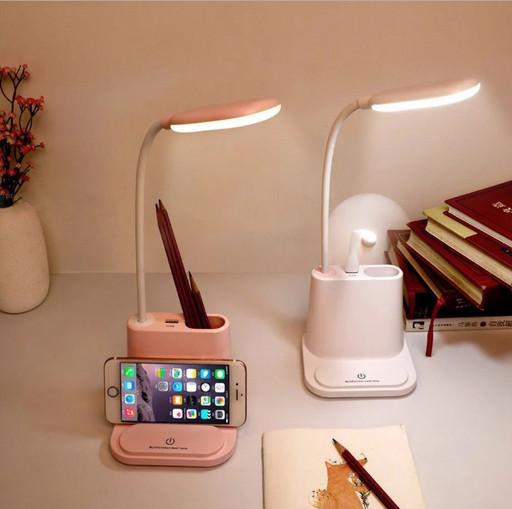 Led лампа с держателем для телефона DESK LAMP multifunctional + павербанк