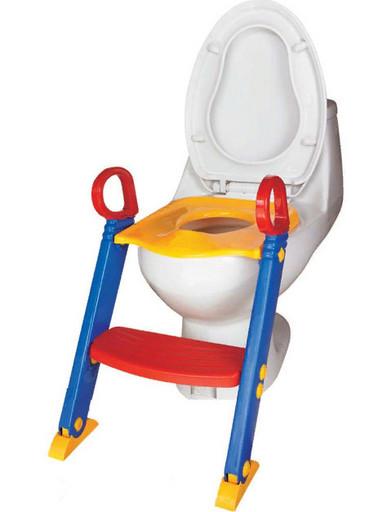 Детское сиденье на унитаз со ступенькой и ручками Children Toilet Trainer