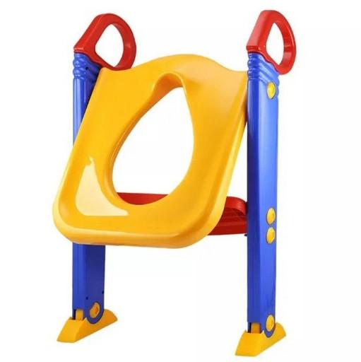 Детское сиденье на унитаз со ступенькой и ручками Child Toilet Trainer