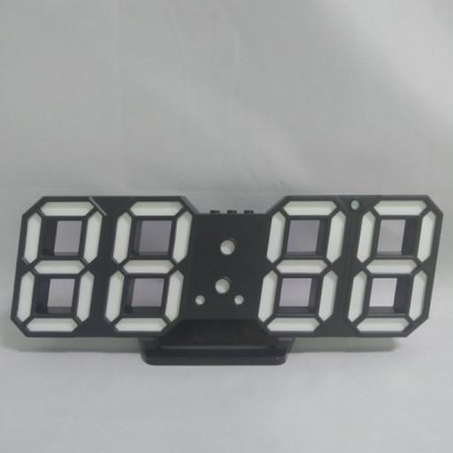 Электронные настольные LED часы с будильником и термометром Caixing CX-2218 чёрные (белая подсветка),