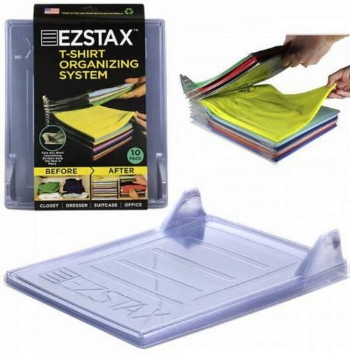 Коробка для хранения одежды Ezstax 10 шт, пластик, органайзер для белья, кофр для хранения вещей