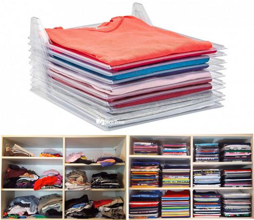 Бокс для хранения одежды Ezstax, прозрачный, органайзер для белья, кофр для хранения вещей