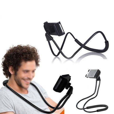 Держатель для телефона на шею черный