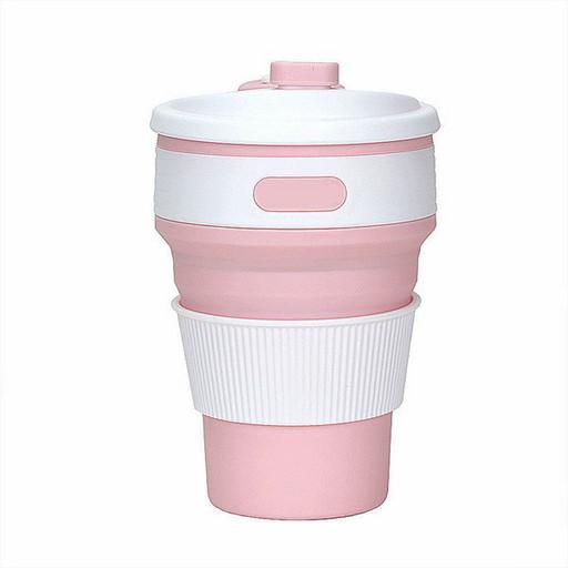 Складная силиконовая чашка Folding Cup EL-1056 350 ml Розовый