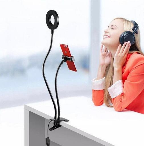 Держатель для телефона на прищепке с подсветкой Professional Live Stream 38